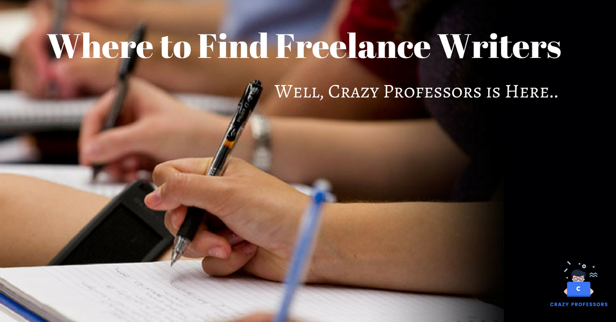 Where to Find Freelance Writers