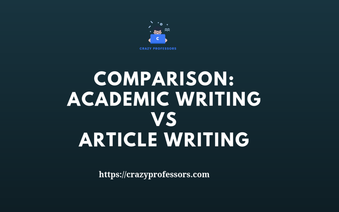 Academic Writing Versus Article Writing
