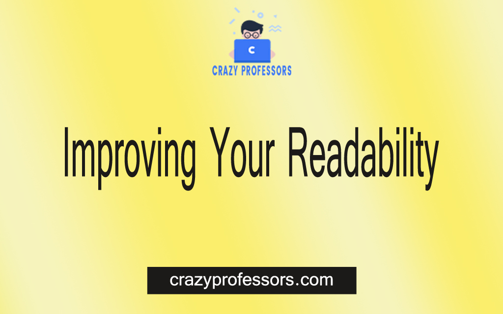 Improving Your Readability